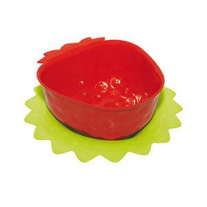 Zak! Designs Vergiet rood  aardbei 11 cm met onderzetter
