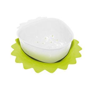 Zak! Designs Vergiet wit aardbei 11 cm met onderzetter