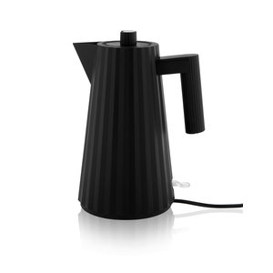 Alessi Plisse' electrische waterkoker zwart