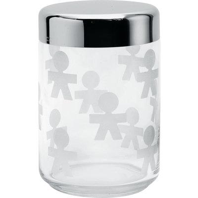 Alessi Voorraadpot Girotondo glas, 16 cm hoog