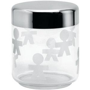 Alessi Voorraadbus Girotondo glas, 12,5 cm hoog