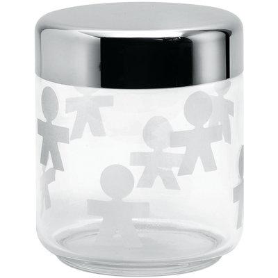Alessi Voorraadpot Girotondo glas, 12,5 cm hoog
