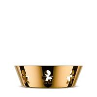 Alessi Girotondo schaal rond gold 18 cm