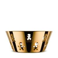 Alessi Girotondo schaal rond gold 20,5 cm
