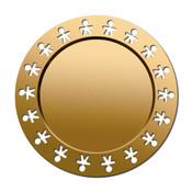 Alessi Girotondo schaal rond gold 40 cm