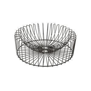 Cosy & Trendy Fruitschaal Orbit Rond Zwart 33x12 cm