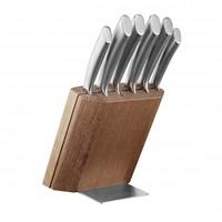 Scanpan Messenblok hout met 6 messen in metaal