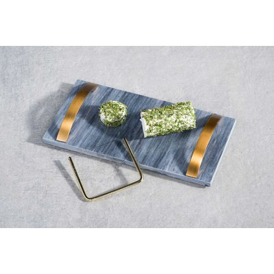Cosy & Trendy Dienblad marmer met koperen handvaten