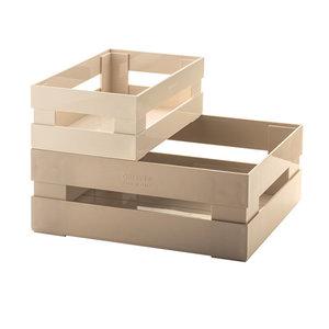 Guzzini Set van 2 dozen, stapelbaar, beige