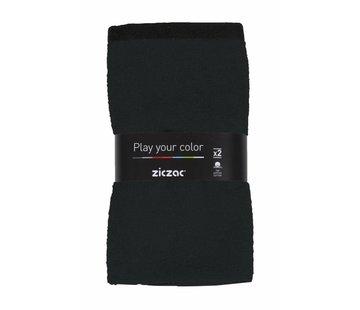 ZicZac Handdoek Zwart – set met 2 stuks