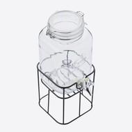 Point-Virgule Drankdispenser Vierkant met Metalen Houder 3.6 Liter