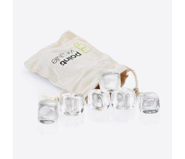 Point-Virgule IJsblokjes Crystal Stones met Zakje – 6 stuks