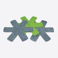 Point-Virgule Pannenbeschermer Grijs en Groen - set met 3 stuks