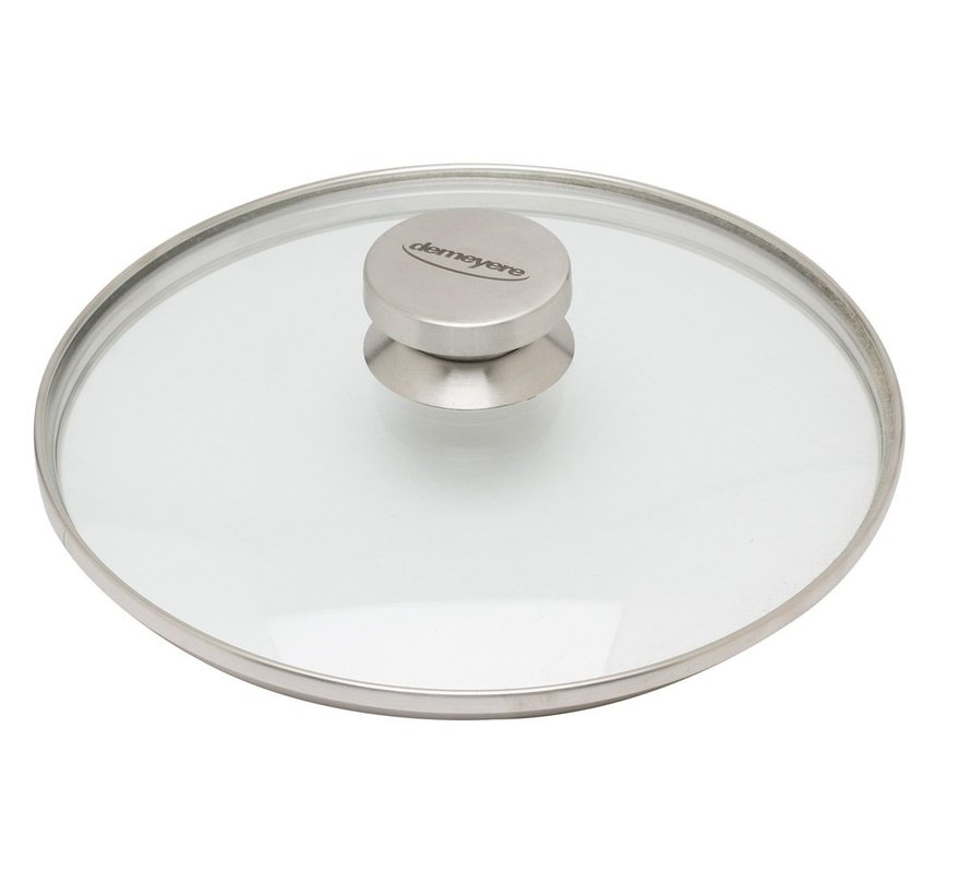 Alu Pro Hapjespan met Glazen Deksel 24 cm