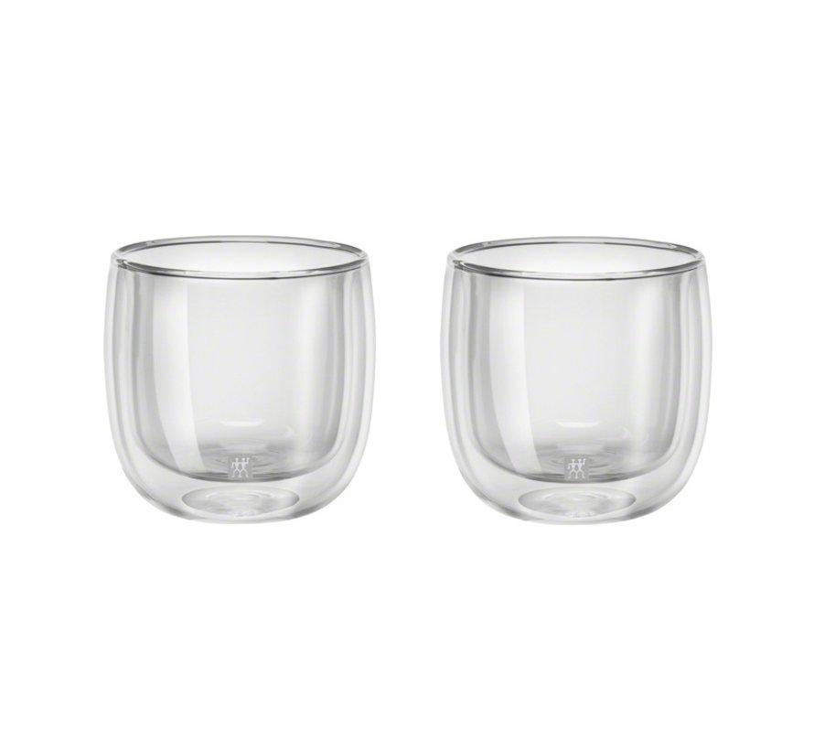 Sorrento Dubbelwandig Glas Thee - set met 2 stuks