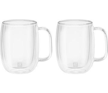 Zwilling Sorrento Dubbelwandig Glas met Greep Koffie - set met 2 stuks