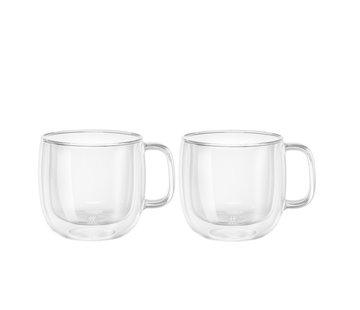 Zwilling Sorrento Dubbelwandig Glas met Greep Cappuccino - set met 2 stuks