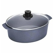 Woll Diamond Lite Induction Braadpan Ovaal met Deksel 31x26 cm