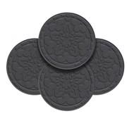 Le Creuset Siliconen Pannenlap Zwart – set met 4 stuks
