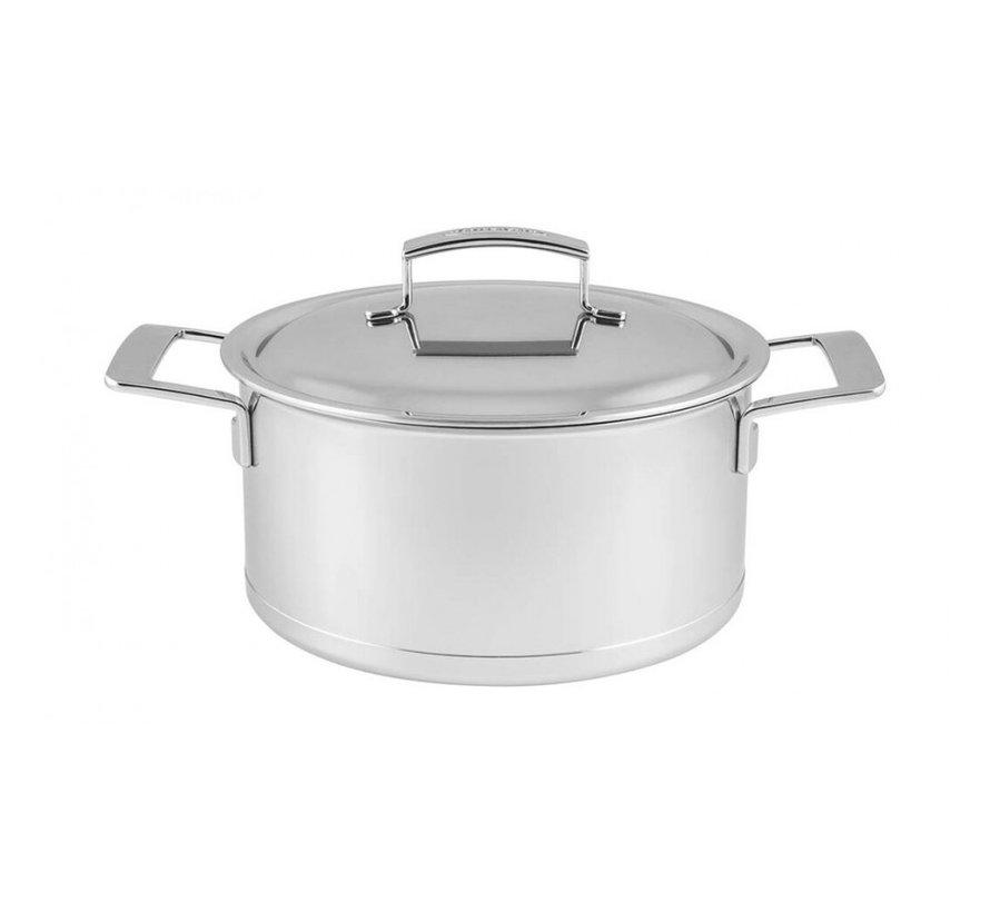 Silver Kookpan met Deksel 22 cm
