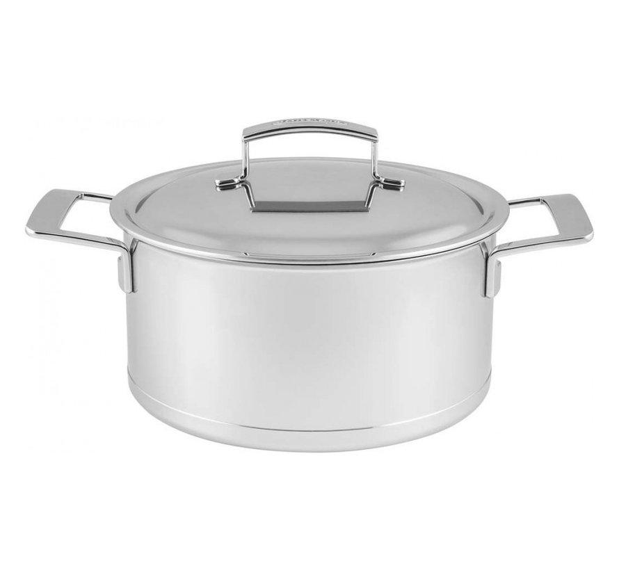 Silver Kookpan met Deksel 24 cm