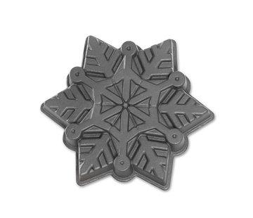 Nordic Ware Frozen Snowflake Pan Silver 6-cup