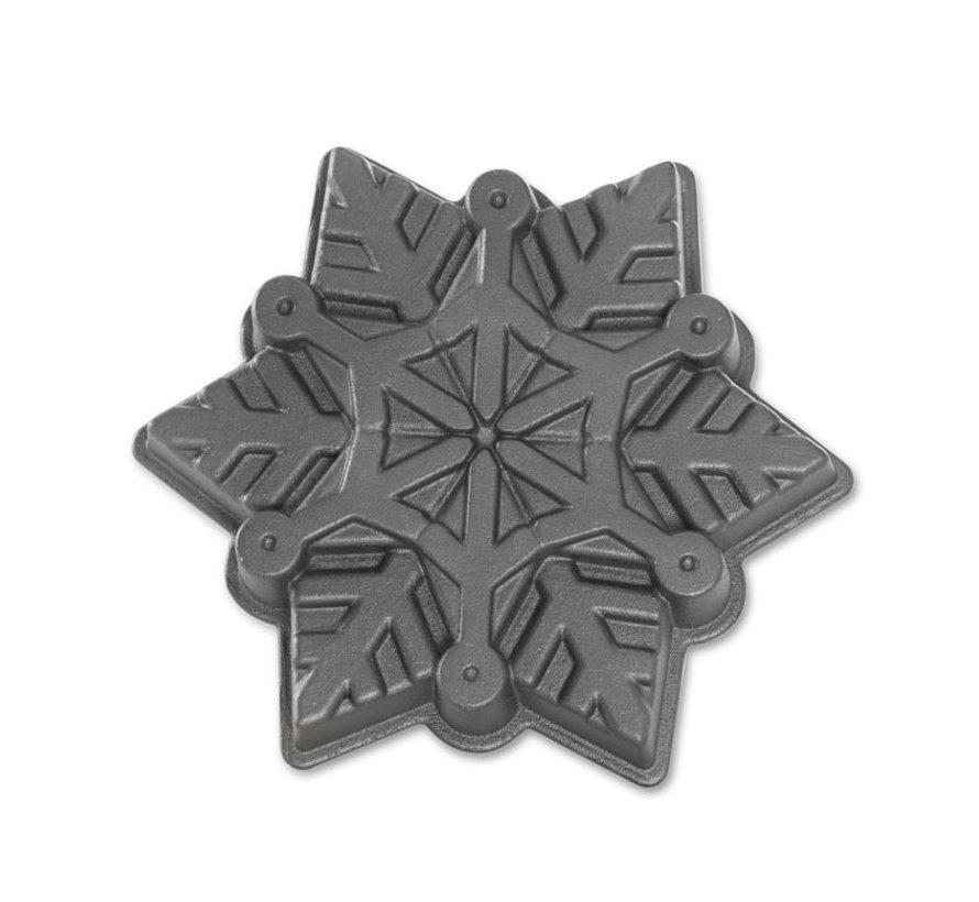 Frozen Snowflake Pan Silver 6-cup