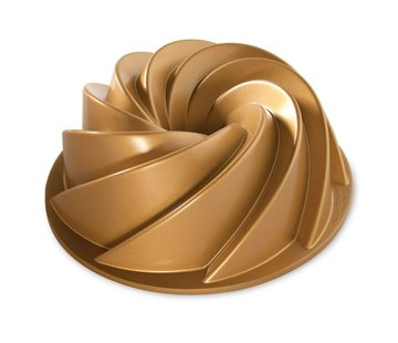 Nordic Ware Heritage Bundt Pan Gold 10-cup