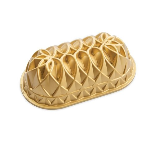 Nordic Ware Jubilee Loaf Pan Gold 6-cup