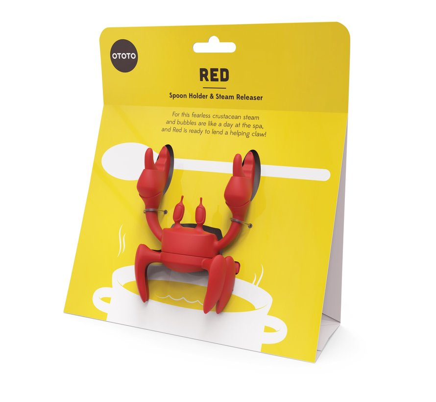 Red Siliconen Lepelhouder en Stoomaflater