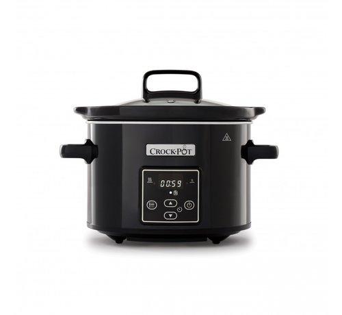 Crockpot Slowcooker Zwart Digitaal -  2.4 Liter