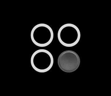 Bialetti Blister 3 Gasket Filterplaatje 3&4-kops