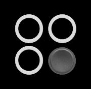 Bialetti Blister 3 Gasket Filterplaatje 9-kops