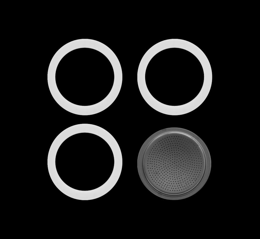 Blister 3 Gasket Filterplaatje 9-kops