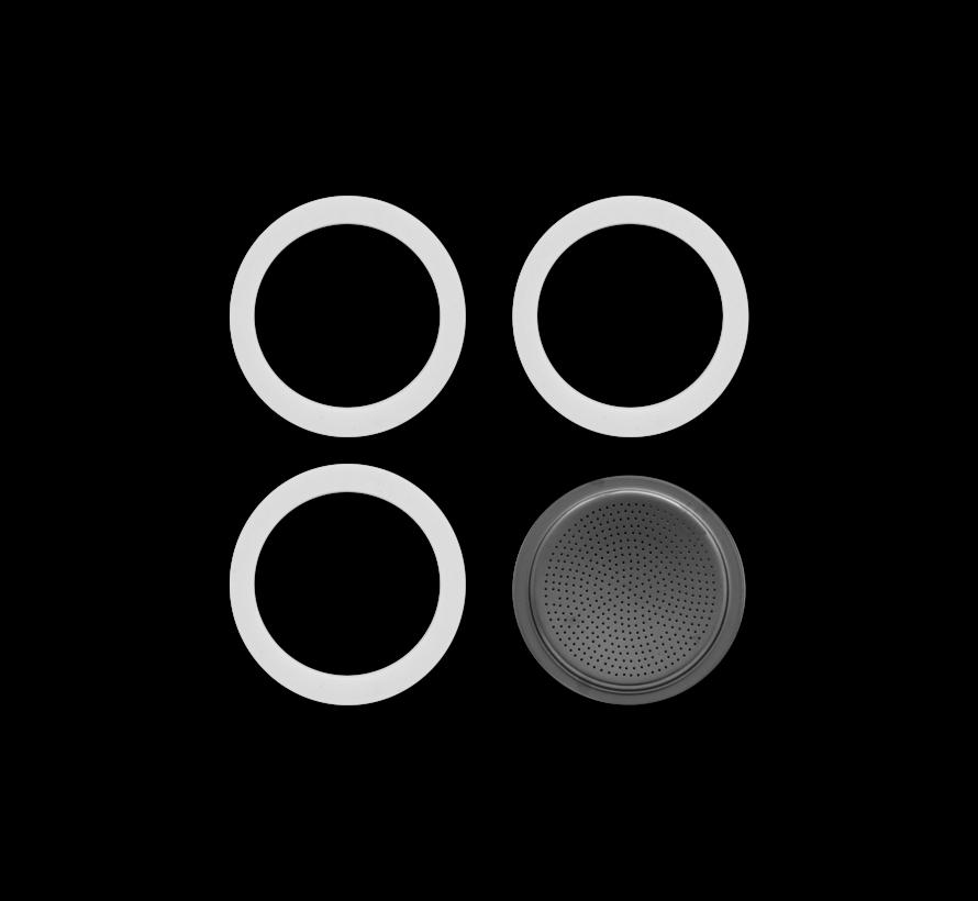 Blister 3 Gasket Filterplaatje RVS 6-kops