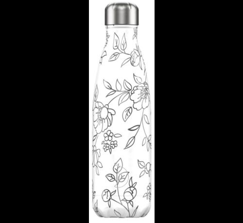 Chilly's Bottle Line Art Flowers 500 ml