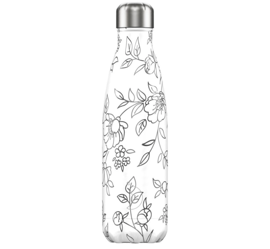 Bottle Line Art Flowers 500 ml