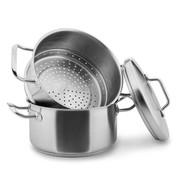 Habonne Stoomset 20 cm – Kookpan, Stoominzet en Deksel