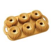 Nordic Ware Brilliance Bundtlette Pan Gold 5-cup