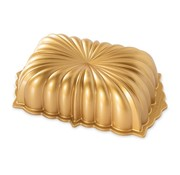 Nordic Ware Classic Fluted Loaf Pan Gold 6-cup