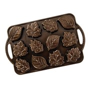 Nordic Ware Leaflettes Cakelet Pan Fall Bronze 2.5-cup