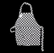 Inno Cuisinno Keukenschort Kids Geblokt Zwart-wit