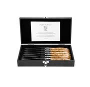 Laguiole Style de Vie Steakmessen Luxury Line Wortelhout 6-delig