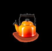 Le Creuset Tradition Fluitketel Oranje-Rood 2.1 Liter