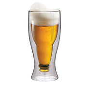 Maxxo Dubbelwandig Glas Bier 500 ml