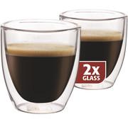 Maxxo Dubbelwandig Glas Espresso 80 ml - set 2 stuks