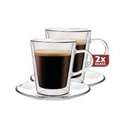 Maxxo Dubbelwandig Glas Lungo 220 ml - set 2 stuks