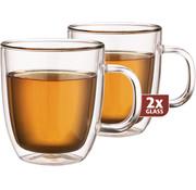 Maxxo Dubbelwandig Glas Thee 480 ml - set 2 stuks