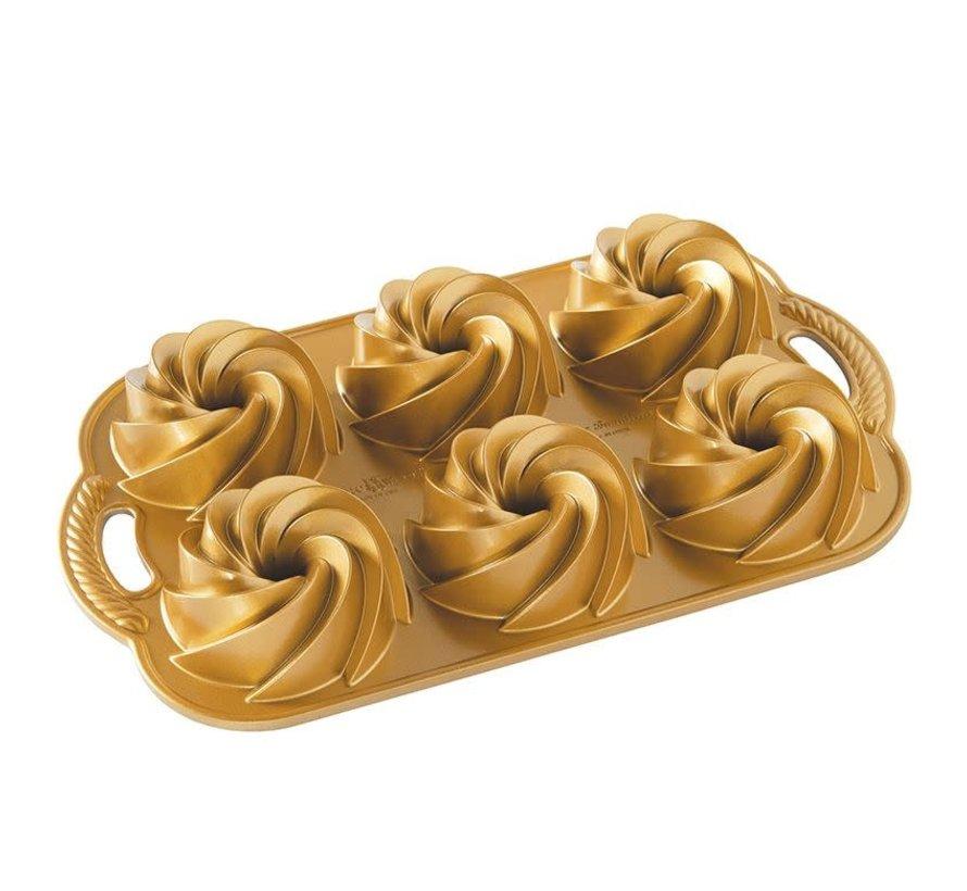 Heritage Bundtlette Pan Gold 4-cup
