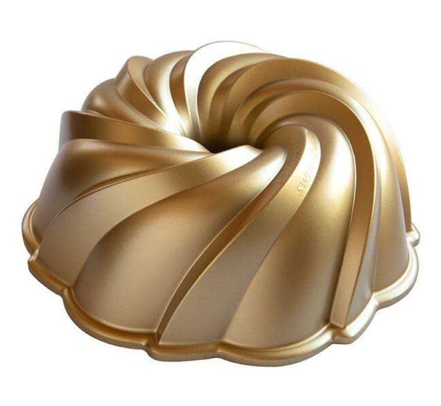 Swirl Bundt Pan Gold 10-cup